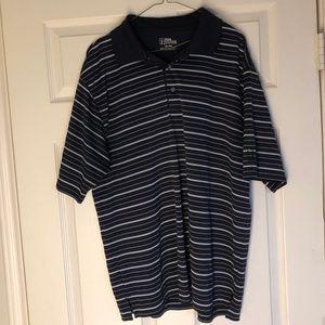 PGA Tour Striped Golf Shirt Polo